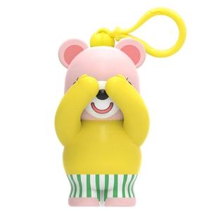 条纹熊(竖纹绿)挂饰