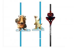 唐威玩具生产的创意蜘蛛侠吸管