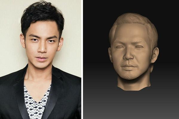 钟汉良人物雕像