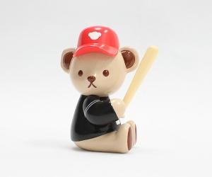 迷你款棒球泰迪熊摆件