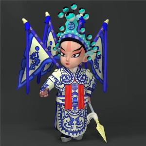 京剧武生玩偶