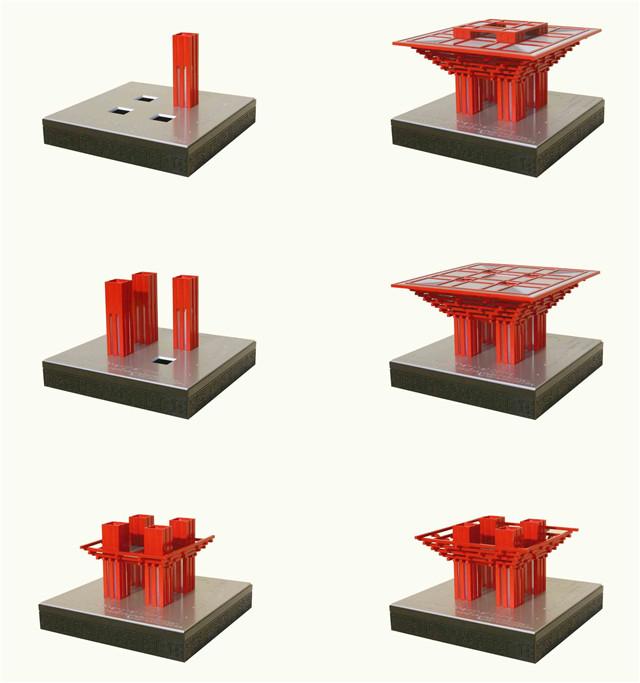 上海创意产品制作 世博馆模型拼装成品图片